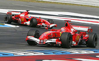 GP Germania, trionfo Ferrari