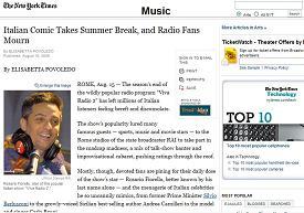 Articolo su Fiorello sul New York Times