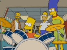 Bart suona la batteria
