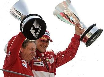 G.P. d'Italia - Jean Todt e Michael Schumacher sul podio