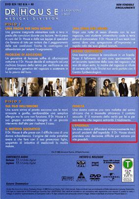 Dr. House, errore nella confezione DVD