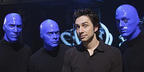 Scrubs, Zach Braff e il Blue Man Group (immagine dall'episodio 1 della sesta stagione)