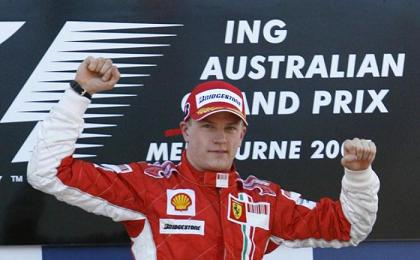 Primo trionfo in Ferrari diRaikkonen