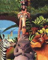 "I protagonisti del film""Madagascar"""
