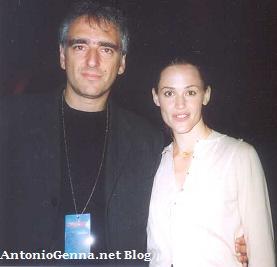Giorgio Buscaglia con l'attrice JenniferGarner