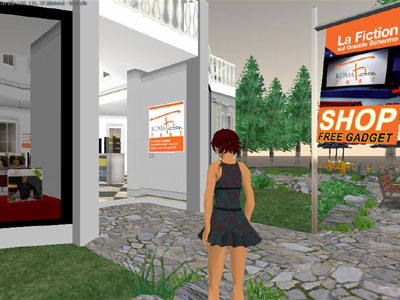 RomaFictionFest 2007 su Second Life, gadget shop