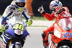 MotoGP - G.P. di Catalunya - Vince Stoner dopo un bel duello conRossi
