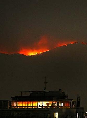 Incendio sulParnaso