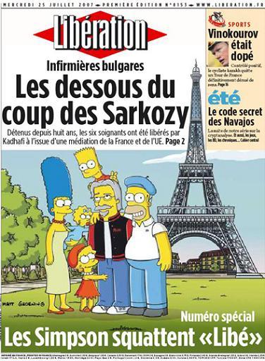 I Simpson irrompono nelle edicolefrancesi