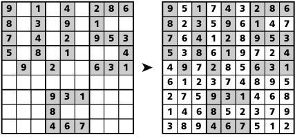 Sudoku artistico,soluzione