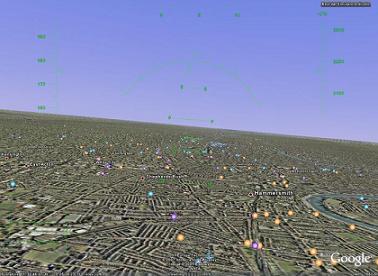 Un simulatore di volo dentro GoogleEarth