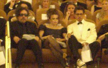 Venezia 2007, Tim Burton, Helena Bonham-Carter e JohnnyDepp