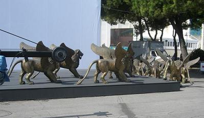 Venezia 2007, scenografia - i leoni infuga