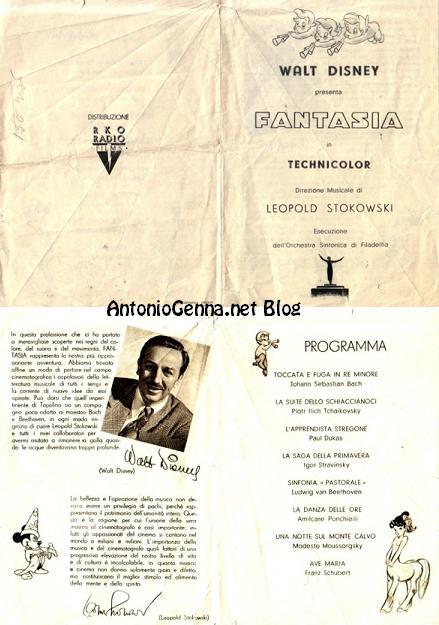 """Il programma italiano di""""Fantasia"""""""