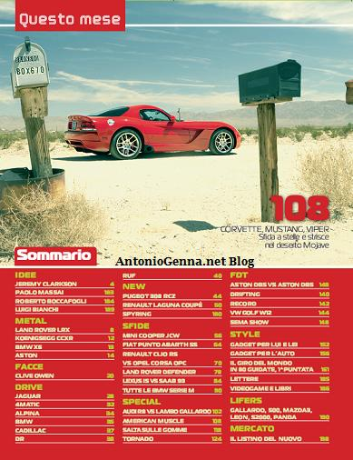 """""""Top Gear"""", febbraio 2008,sommario"""