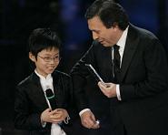 Festival di Sanremo 2008, il giovanissimo pianista Marc Yu e Piero Chiambretti