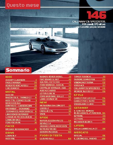 """""""Top Gear"""", marzo 2008, sommario"""