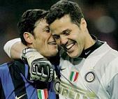 Julio Cesar e Javier Zanetti