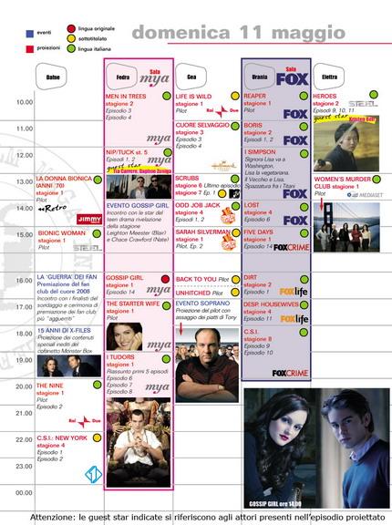 Programma di domenica 11 maggio 2008