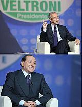 Walter Veltroni e Silvio Berlusconi a \