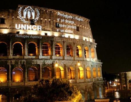 Il Colosseo per i rifugiati