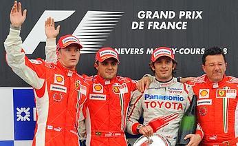 F1, G.P. di Francia - Un\'altra doppietta Ferrari