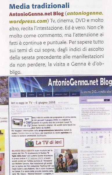 """Segnalazione su \""""Macworld Italia\"""" del luglio 2008"""