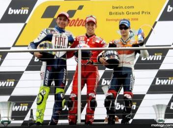 MotoGP - G.P. di Gran Bretagna - Torna alla vittoria Stoner, secondo Rossi
